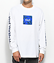 HUF Plant Life Woven Label camiseta blanca de manga larga