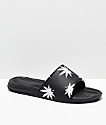 HUF Plantlife Black & White Slide Sandals
