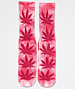 HUF Plantlife Bright Pink Tie Dye Crew Socks