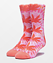 HUF Plantlife Canyon Sunset Digital Dye Crew Socks