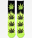 HUF Plantlife Flames Black & Green Crew Socks