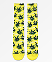 HUF Plantlife Green Buddies 2 calcetines amarillos