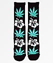 HUF Plantlife Hibiscus Black Crew Socks