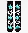 HUF Plantlife Hibiscus calcetines negros