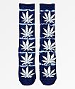 HUF Plantlife Lightning Blue Washed Crew Socks