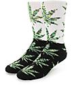 HUF Plantlife Melange calcetines en negro y verde