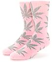 HUF Plantlife Pink & Heather Grey Crew Socks