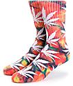 HUF Plantlife Rainbow Tie Dye calcetines