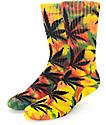 HUF Plantlife Rasta calcetines con efecto tie dye
