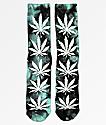 HUF Plantlife Swirl calcetines con efecto tie dye azul y negro
