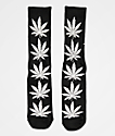 HUF Plantlife Tinsel Black Crew Socks