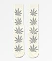 HUF Plantlife Tinsel White Crew Socks