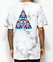 HUF Psycho Neo Triangle camiseta blanca con efecto tie dye