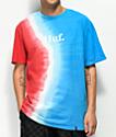 HUF Rocket camiseta tie dye roja, azul y blanca