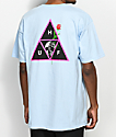 HUF Rosa Calvaria Triple Triangle Light Blue T-Shirt