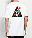 HUF Rosa Calvaria Triple Triangle White T-Shirt
