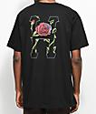 HUF Roses Classic H Black T-Shirt