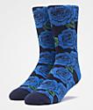 HUF Rosette Blue Crew Socks