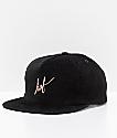 HUF Script Black Corduroy Snapback Hat