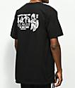 HUF Stick n Poke camiseta negra