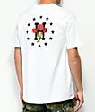 HUF Stoned Roses camiseta blanca
