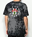 HUF Stoned Roses camiseta negra con efecto tie dye