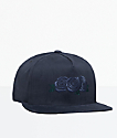 HUF Triple Rose Black Snapback Hat