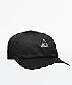 HUF Triple Triangle Black Strapback Hat