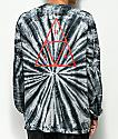 HUF Triple Triangle Black Tie Dye Long Sleeve Shirt