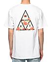 HUF Triple Triangle Floral camiseta blanca