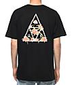 HUF Triple Triangle Floral camiseta negra