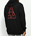 HUF Triple Triangle Over Black Hoodie