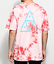 HUF Triple Triangle camiseta en color coral