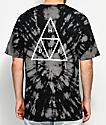 HUF Triple Triangle camiseta lavado en negro