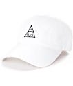 HUF Triple Triangle gorra strapback en blanco