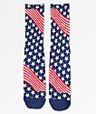 HUF USA calcetines en azul, blanco y rojo