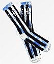 HUF WC Bad Referee Blue Tie Dye Crew Socks