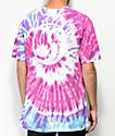 HUF War Of The Roses camiseta morada con efecto tie dye