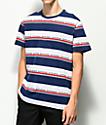 HUF Worldwide camiseta de punto a rayas azules