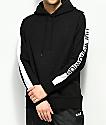 HUF Worldwide sudadera con capucha en negro y blanco