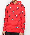 HUF X Felix the Cat Allover Print Red Hoodie