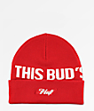 HUF x Budweiser Buds For You Red Beanie