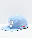 HUF x Budweiser Label Indigo Strapback Hat