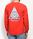 HUF x Budweiser Triangle Red Long Sleeve T-Shirt