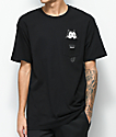 HUF x Felix The Cat Watching Pocket Black T-Shirt