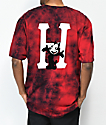 HUF x Felix the Cat Classic H camiseta tie dye roja