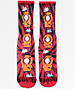 HUF x South Park Dead Kenny Red Tie Dye Crew Socks