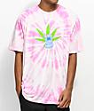 HUF x South Park Towelie camiseta rosa con efecto tie dye