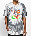 HUF x South Park Trippy Black Tie Dye T-Shirt