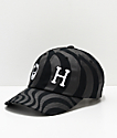 HUF x Spitfire All Over Swirl Black Strapback Hat